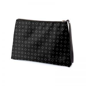 antony yorck business clutch tasche charlotte pattern print purple black white 135120 02