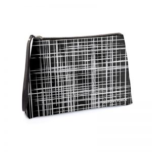 antony yorck business clutch tasche drandimon pattern print purple black white 135220 01