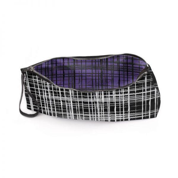 antony yorck business clutch tasche drandimon pattern print purple black white 135220 03