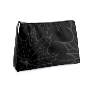 antony yorck clutch abendtasche mit maple leaf floral print purple black anthrazit 134773 01