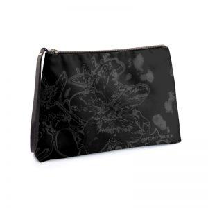 antony yorck clutch abendtasche mit mirabellenblüte floral print purple black anthrazit 135185 01