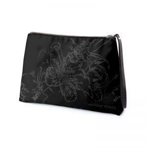 antony yorck clutch abendtasche mit mirabellenblüte floral print purple black anthrazit 135185 02