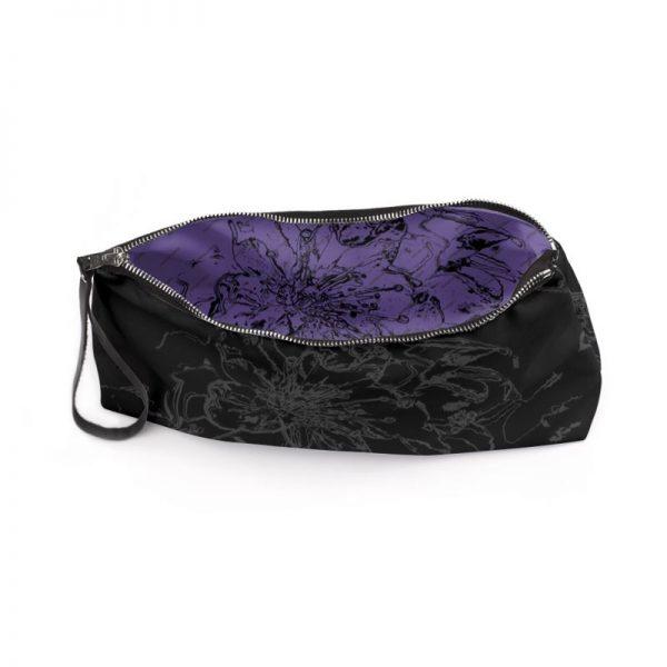 antony yorck clutch abendtasche mit mirabellenblüte floral print purple black anthrazit 135185 03