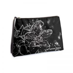 antony yorck clutch abendtasche mit mirabellenblüte floral print purple black white 135151 01