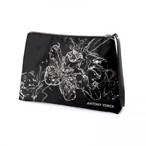 antony yorck clutch abendtasche mit mirabellenblüte floral print purple black white 135151 02