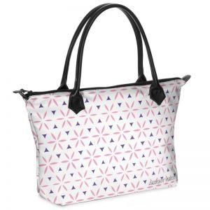 antony yorck shopper tasche vivalifa floral pattern print style pink purple white 137779 01