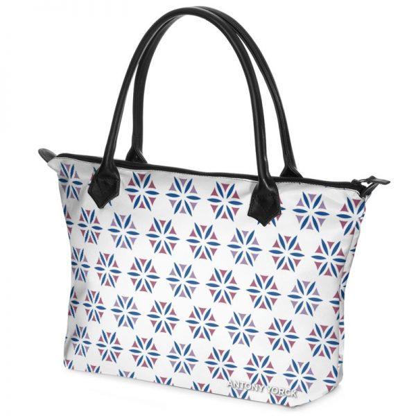 antony yorck shopper tasche vivalifa floral pattern print style purple blue white 141202 02