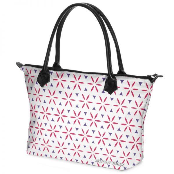 antony yorck shopper tasche vivalifa floral pattern print style purple magenta white 140925 02