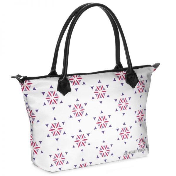 antony yorck shopper tasche vivalifa floral pattern print style purple magenta white 140929 01