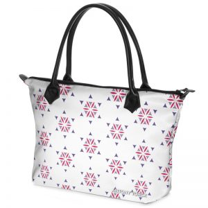 antony yorck shopper tasche vivalifa floral pattern print style purple magenta white 140929 02