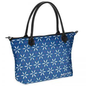 antony yorck shopper tasche vivalifa floral pattern print style white blue 138434 01