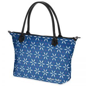 antony yorck shopper tasche vivalifa floral pattern print style white blue 138434 02