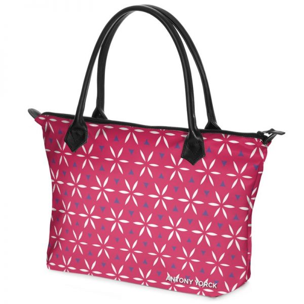 antony yorck shopper tasche vivalifa raspberry floral pattern print style purple white magenta 140470 02