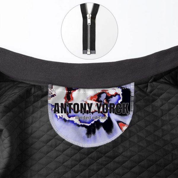 antony yorck blouson bomber jacket sky modern art ladies waterproof detail limited edition 160085 3