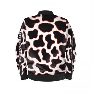 antony yorck blouson bomberjacke kf 001 cow animal print magenta white black 161061 02