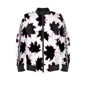 antony yorck blouson bomberjacke ml 001 maple leaf white purple black 161075 01