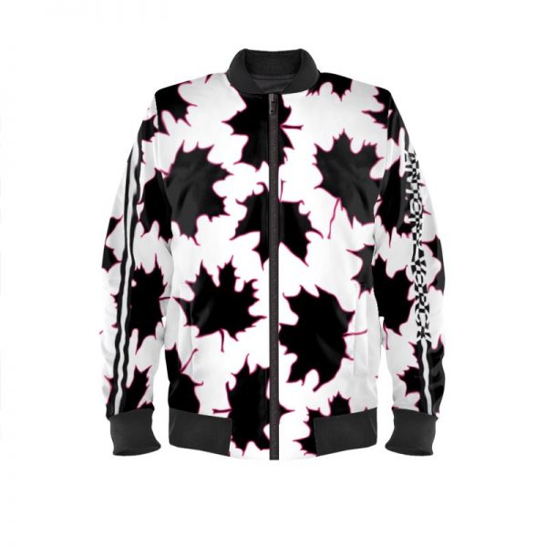 antony yorck blouson bomberjacke ml 001 maple leaf white purple black 161075 01