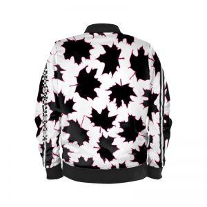 antony yorck blouson bomberjacke ml 001 maple leaf white purple black 161075 02