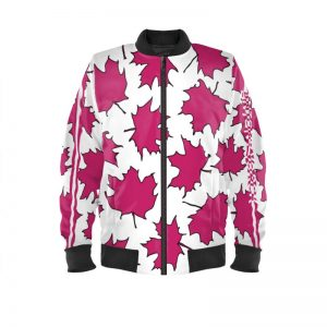 antony yorck blouson bomberjacke ml 002 maple leaf white magenta black 160470 01