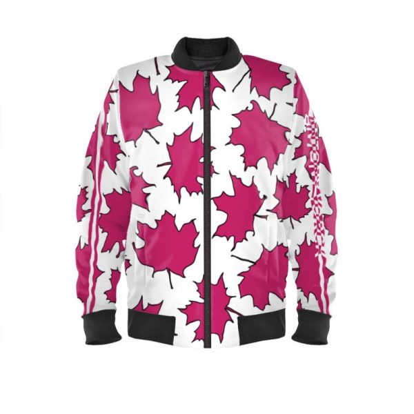 antony yorck blouson bomberjacke ml 002 maple leaf white magenta black 160470 01