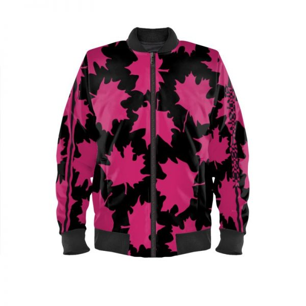 antony yorck blouson bomberjacke ml 004 maple leaf magenta black 161068 01