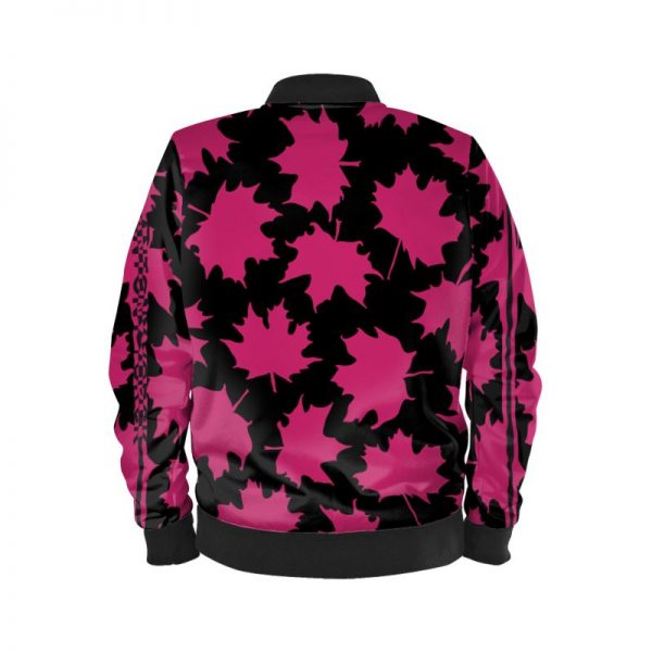 antony yorck blouson bomberjacke ml 004 maple leaf magenta black 161068 02