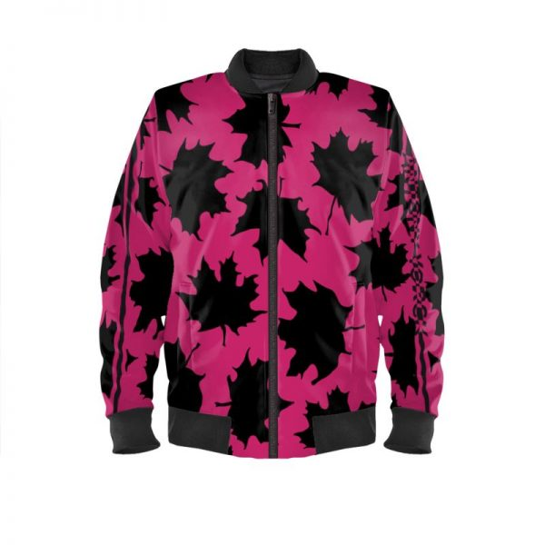 antony yorck blouson bomberjacke ml 006 maple leaf magenta black 161057 01