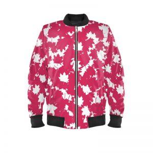 antony yorck bomberjacke ladies blouson bomber jacke jacket waterproof ml 008 maple leaf white magenta black 160450 01