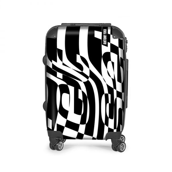 antony yorck trolley rollkoffer jet set black travel airplane carry-on baggage luggage suitcase