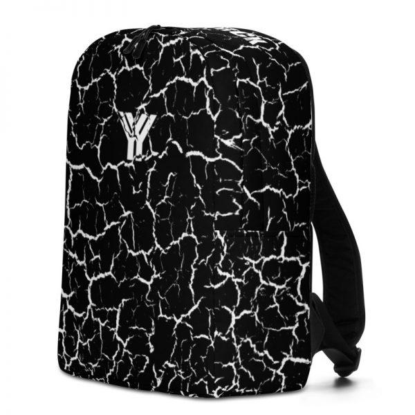 antony yorck rucksack craquelee schwarz logo weiss extra fach laptop notebook 15 zoll plus geheimfach wasserfest ansicht rechte seite
