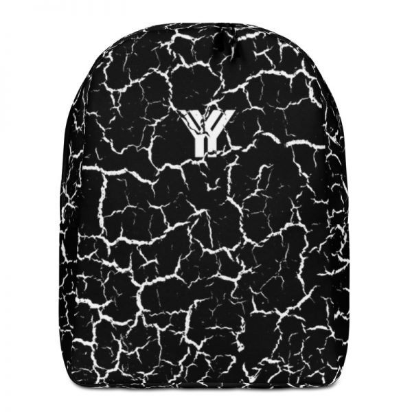 antony yorck rucksack craquelee schwarz logo weiss extra fach laptop notebook 15 zoll plus geheimfach wasserfest ansicht vorderseite