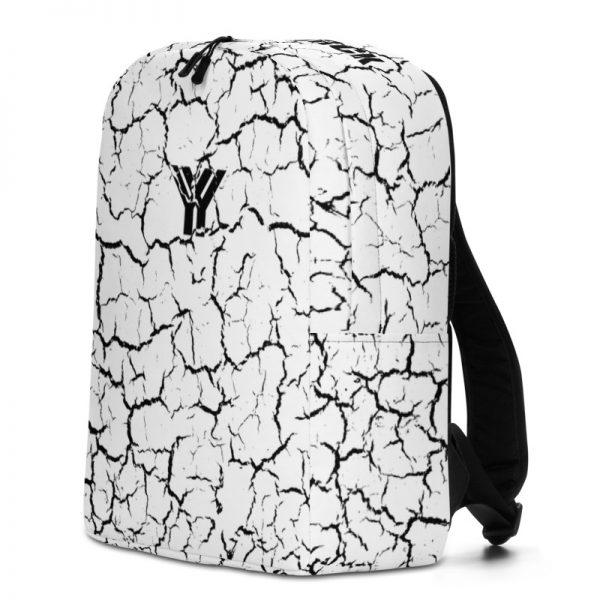 antony yorck rucksack craquelee weiss logo schwarz extra fach laptop notebook 15 zoll plus geheimfach wasserfest ansicht rechts