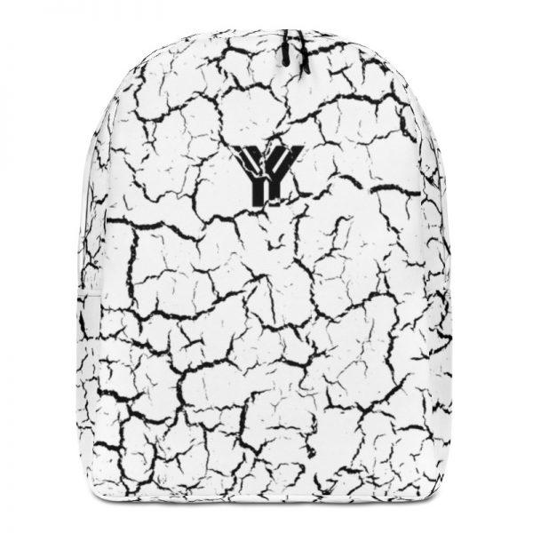 antony yorck rucksack craquelee weiss logo schwarz extra fach laptop notebook 15 zoll plus geheimfach wasserfest ansicht vorderseite