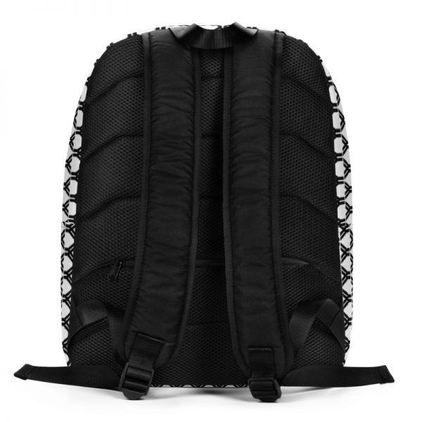 antony yorck rucksack fashion brand logo grid schwarz weiss extra fach laptop notebook 15 zoll plus geheimfach wasserfest ansicht rueckseite 5E85BEA19FA2C