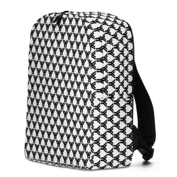 antony yorck rucksack fashion brand logo grid schwarz weiss extra fach laptop notebook 15 zoll plus geheimfach wasserfest ansicht rechts 5E85BEA19FA2C
