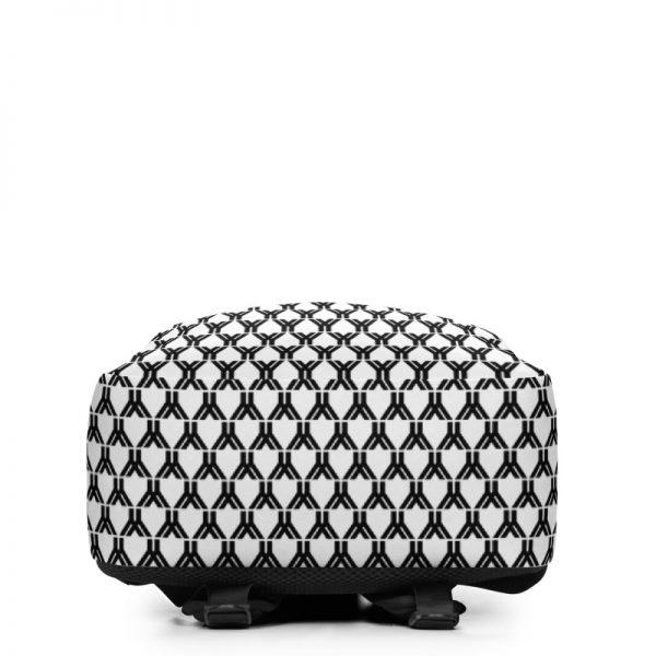 antony yorck rucksack fashion brand logo grid schwarz weiss extra fach laptop notebook 15 zoll plus geheimfach wasserfest ansicht unterseite 5E85BEA19FA2C