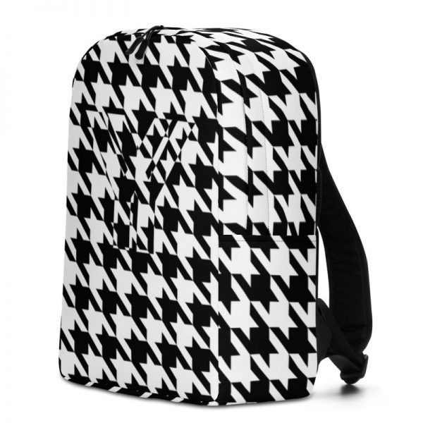 Rucksack Hahnentritt Muster Collection OBVIOUS 2 antony yorck rucksack geheimfach wasserfest hahnentritt muster logo damen herren schwarz weiss seite rechts 5e8caf1884fb4