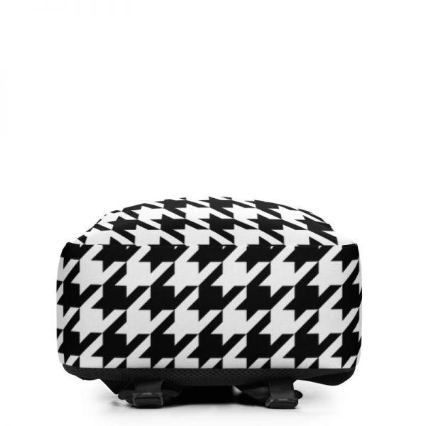 Rucksack Hahnentritt Muster Collection OBVIOUS 4 antony yorck rucksack geheimfach wasserfest hahnentritt muster logo damen herren schwarz weiss unterseite 5e8caf1884fb4