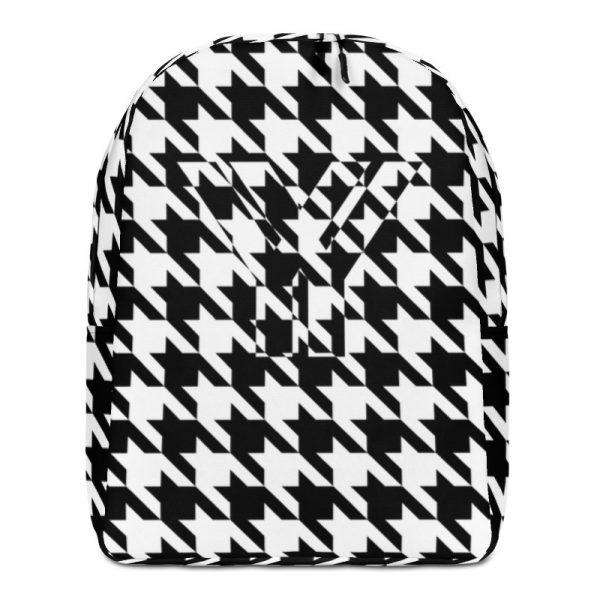 Rucksack Hahnentritt Muster Collection OBVIOUS 1 antony yorck rucksack geheimfach wasserfest hahnentritt muster logo damen herren schwarz weiss vorderseite 5e8caf1884fb4