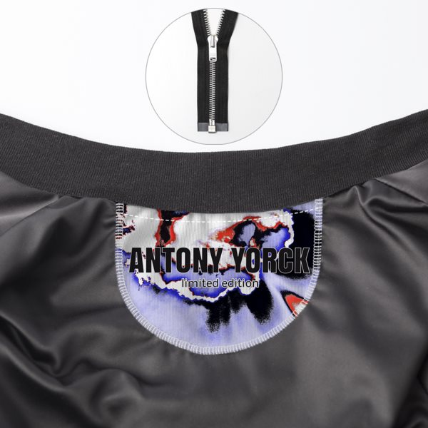 Antony Yorck • Bomberjacke Damen • SKY • collection LIMITED 1 antony yorck bomber jacke innen label 03