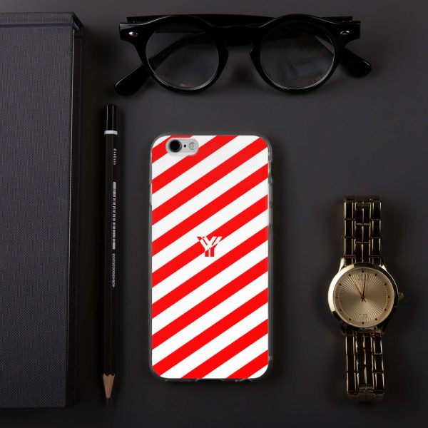 Antony Yorck • IPhone Hülle white and red • Collection OBVIOUS 12 mockup 0cf67805