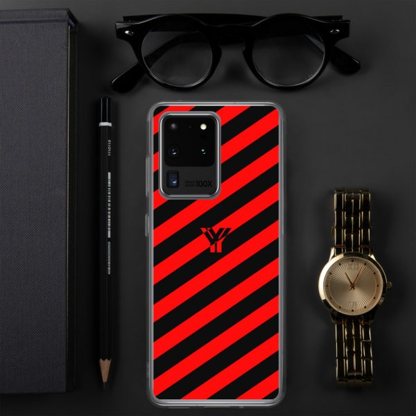 antony yorck accessoire samsung phone cases stripes black and red collection obvious 021