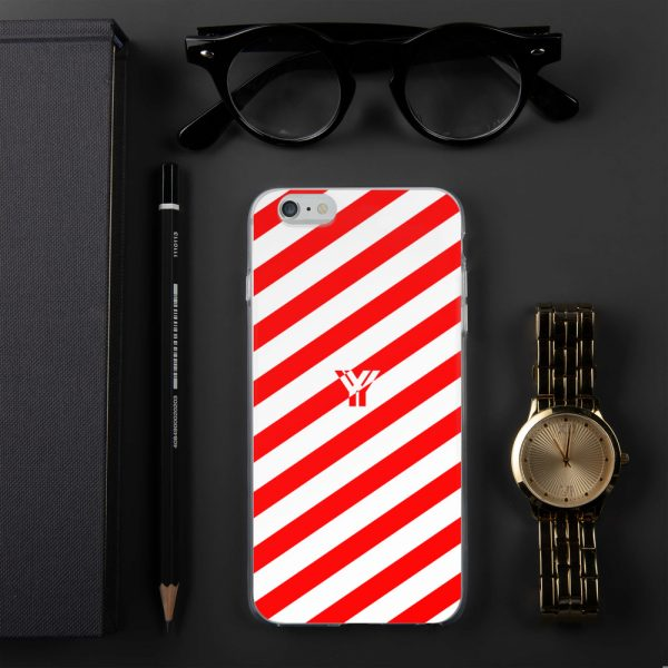 IPhone Hülle white and red collection OBVIOUS 9 mockup 210c3ab3