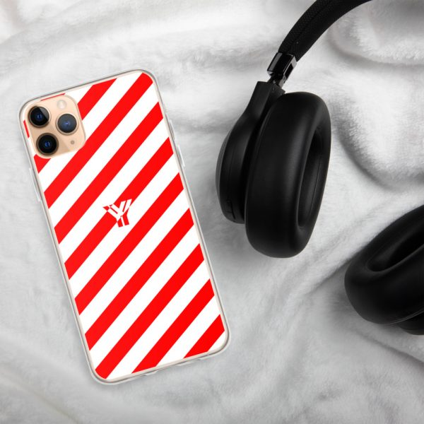 IPhone Hülle white and red collection OBVIOUS 7 mockup 49927de2