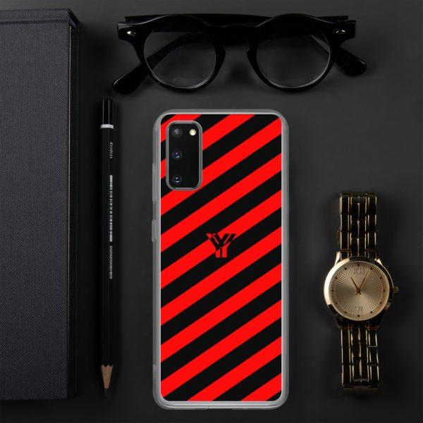 antony yorck accessoire samsung phone cases stripes black and red collection obvious 027