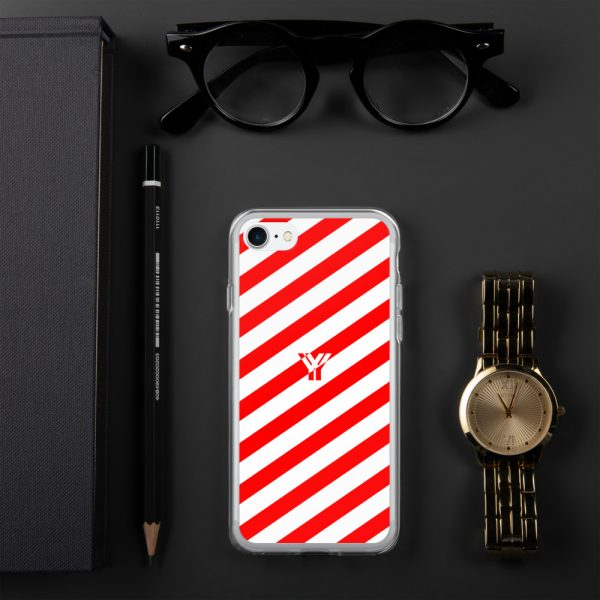 IPhone Hülle white and red collection OBVIOUS 21 mockup 541f6870