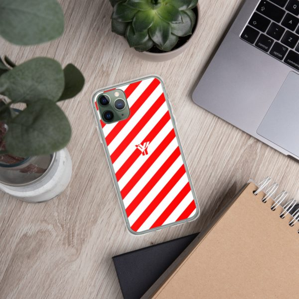 IPhone Hülle white and red collection OBVIOUS 5 mockup 686d0a37