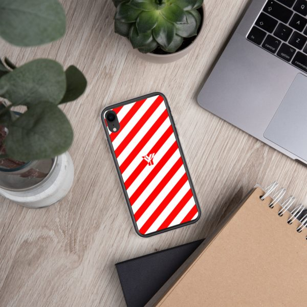IPhone Hülle white and red collection OBVIOUS 29 mockup 6ed2dce1