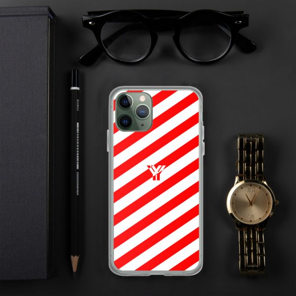 IPhone Hülle white and red collection OBVIOUS 3 mockup 76fc9a0a