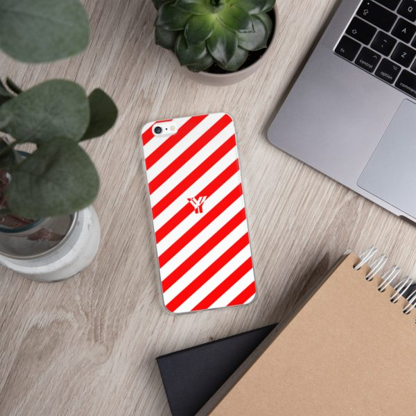 Antony Yorck • IPhone Hülle white and red • Collection OBVIOUS 11 mockup 99ca56ac